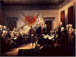 The signing of the Declaration of Independence 1776
