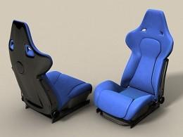 Pair of Recaro Racing Seats in Blue and Black