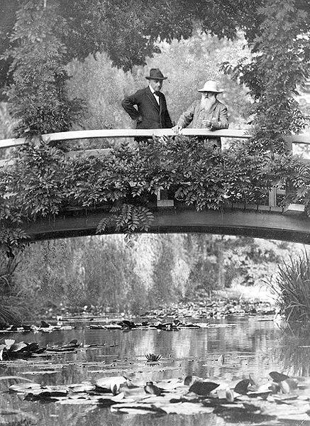 Monet in Garden, New York Times, 1922