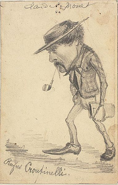 Caricature of Henri Cassinelli - Rufus Croutinelli, By Claude Monet