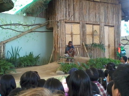 The aeta doing a demo on survival