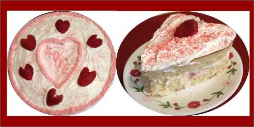 "10"" and 4"" Valentine Cakes"