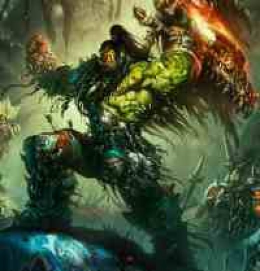 Grom Hellscream, as drawn by Blizzard Entertainment's art director, Samwise. Yes, it was him who even suggested that Panderans should appear in Warcraft 3, later on to be in a WoW expansion.