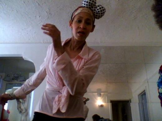 Victoria Moore dancing.