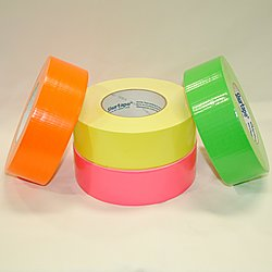 Light industrial grade duct tape in neon colors.