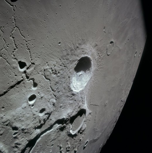 Aristarchus and Herodotus craters taken from orbit during the Apollo 15 mission.