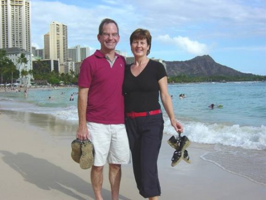 A romantic walk in Hawaii
