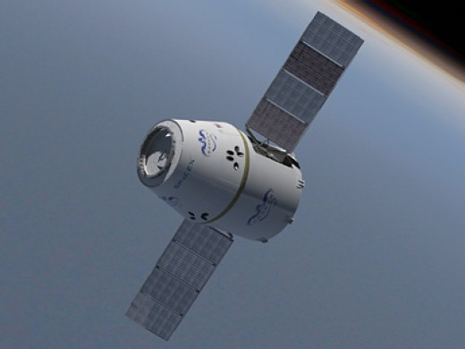 Private corporation, Space X's,  Dragon X Capsule is set to begin supplying the International Space Station in 2012.