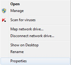 """You can right-click """"Computer"""" in the Start menu and then click """"Properties"""" to view your system's settings."""