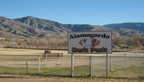 Alamogordo's scenic dog park.