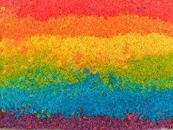 Kids Crafts; How to Make Rainbow Rice