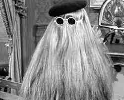 """The ultimate long hair?  Who can forget """"Cousin It!"""""""