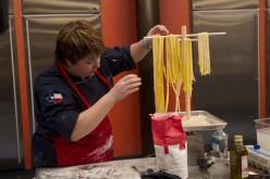 Sarah and her pasta