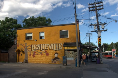 Leslieville mural, Toronto, Canada