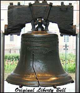 Philadelphia Liberty Bell  -  *see composite image component citations