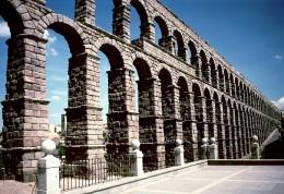 Roman aqueduct at Segovia, Spain