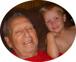John and our youngest grandson 2010