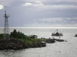 Another fun activity at Pelabuhan Ratu, fishing with fishing rod .
