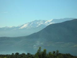 Crete Lefka Ori, always snow covered at Christmas.