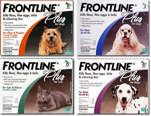 A respectable brand of flea treatment medication for both dogs and cats.