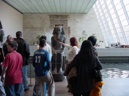 Photo taken for newsletter - student trip to the Metropolitan Museum.