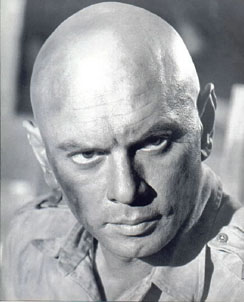 Academy Award winning actor Yul Brynner