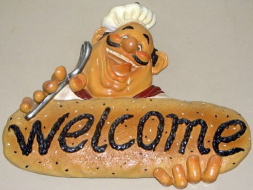 This welcome sign is really tasty! At Baker's Hill
