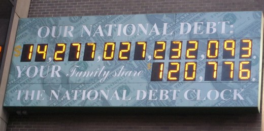 The national debt, a couple of trillion dollars ago