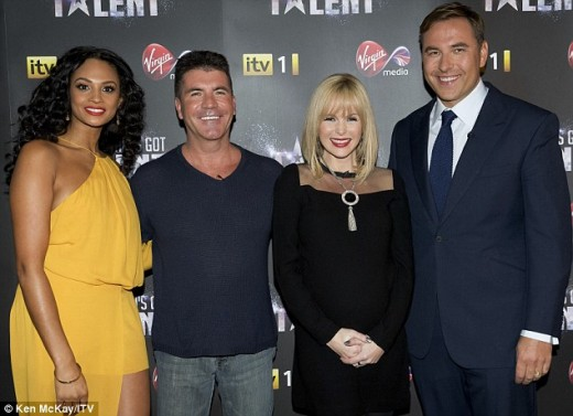 Britain's Got Talent 2012 judges: From left to right, Alesha Dixon, Simon Cowell, Amanda Holden and David Walliams