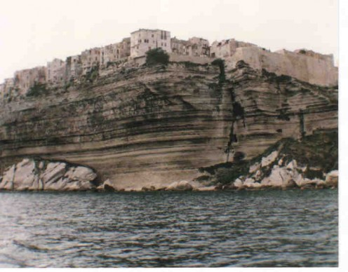 The high cliffs of Bonifacio.