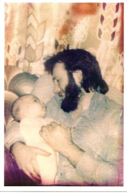Dave with our baby daughter 1974