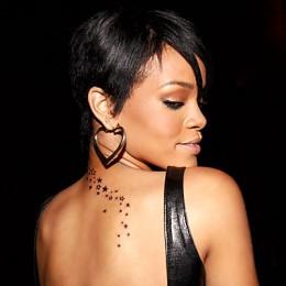 Rihanna's 'Trail of Stars' tattoo