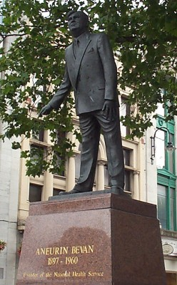 Statue of Aneurin Bevan in Cardiff.