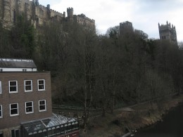 The view of Durham Cathedral from'Treat's Tea Room'