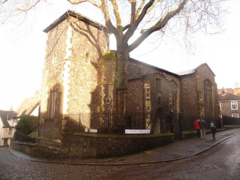 Norwich: former church of St Peter Hungate. A fifteenth century church in Princes Street.