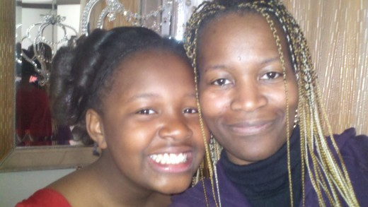 Taking a moment with my preteen who wanted to take a picture with her mommy, even though I was stressed from dealing with other family issues this day.