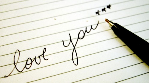 Handwriting your own poem or letter is a sweet gesture of love.