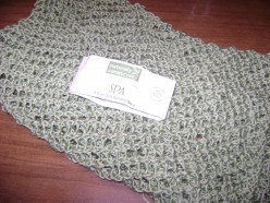 Small knitted lace shawl