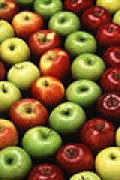 Apples - easy to freeze and easy to make into a frozen dessert.
