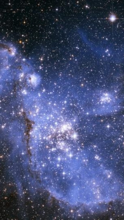 Infant stars in the Small Magellanic Cloud.