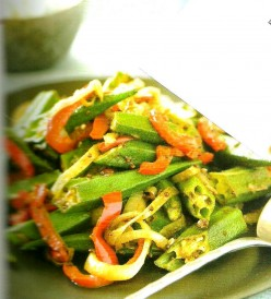 Stir fried Okra Recipe.