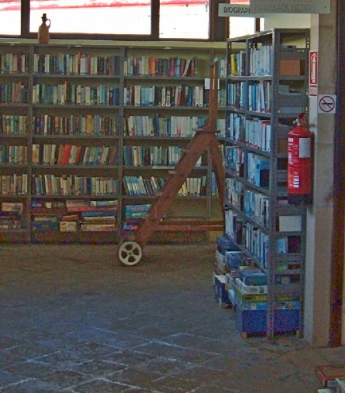 Inside the English Library showing some of the books. Photo by Steve Andrews
