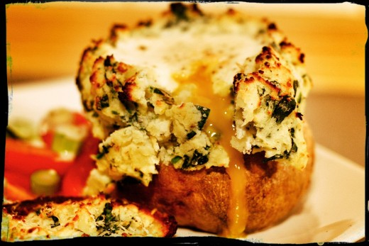 Florentine Twice Baked Potato