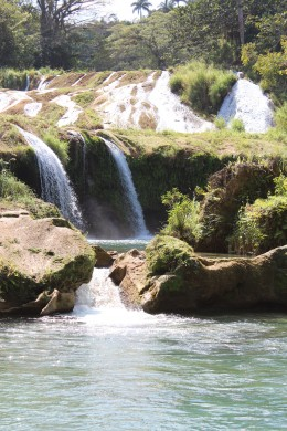 One of the waterfalls at El Nicho.