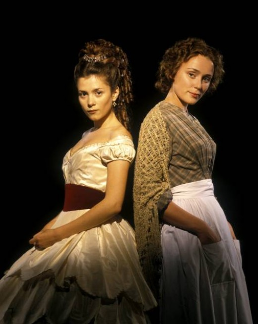 The two female leads as portrayed in the 1998 BBC film