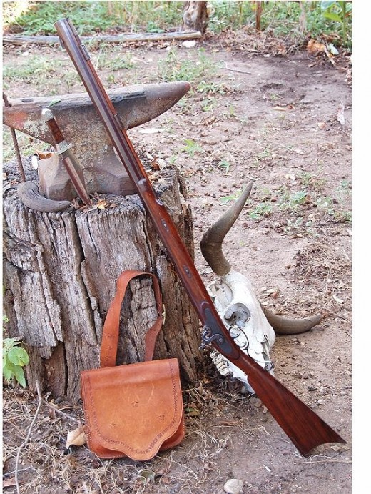 Replica of early 19th Century Hawken rifle