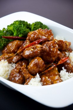 Hunan Chicken & Broccoli in Ginger Wine Sauce (General Tso's Chicken)