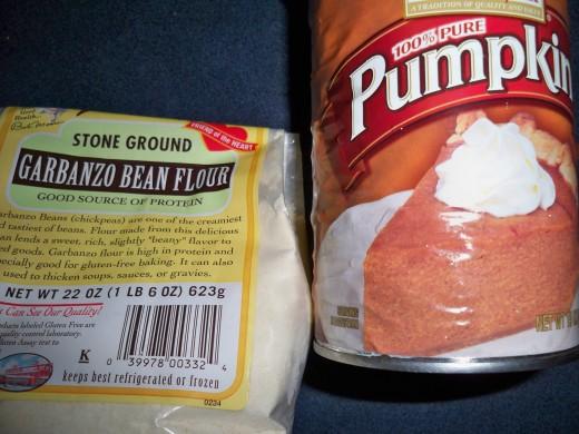 GF Ingredients For Pumpkin Muffins