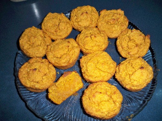 A Plate of these Pumpkin Muffins is Difficult to Resist