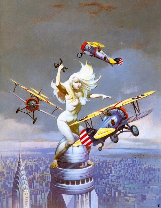 Queen Kong - art by Frank Frazetta